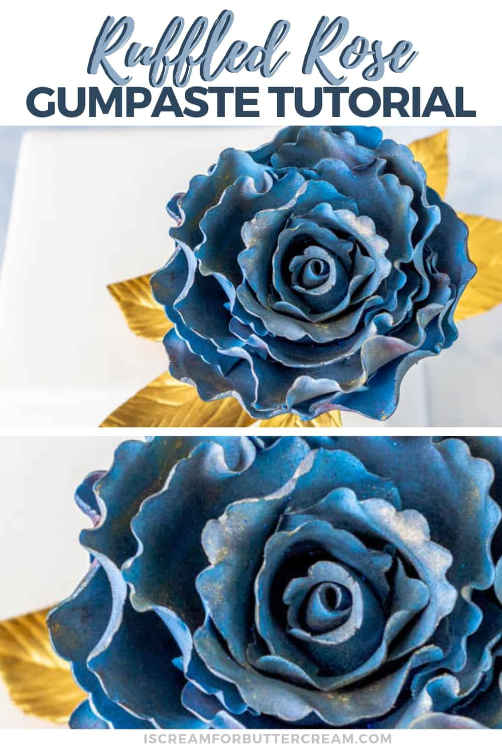 Ruffled Rose Gumpaste Fantasy Flower New Pin 3
