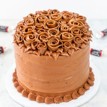 tootsie roll cake featured image