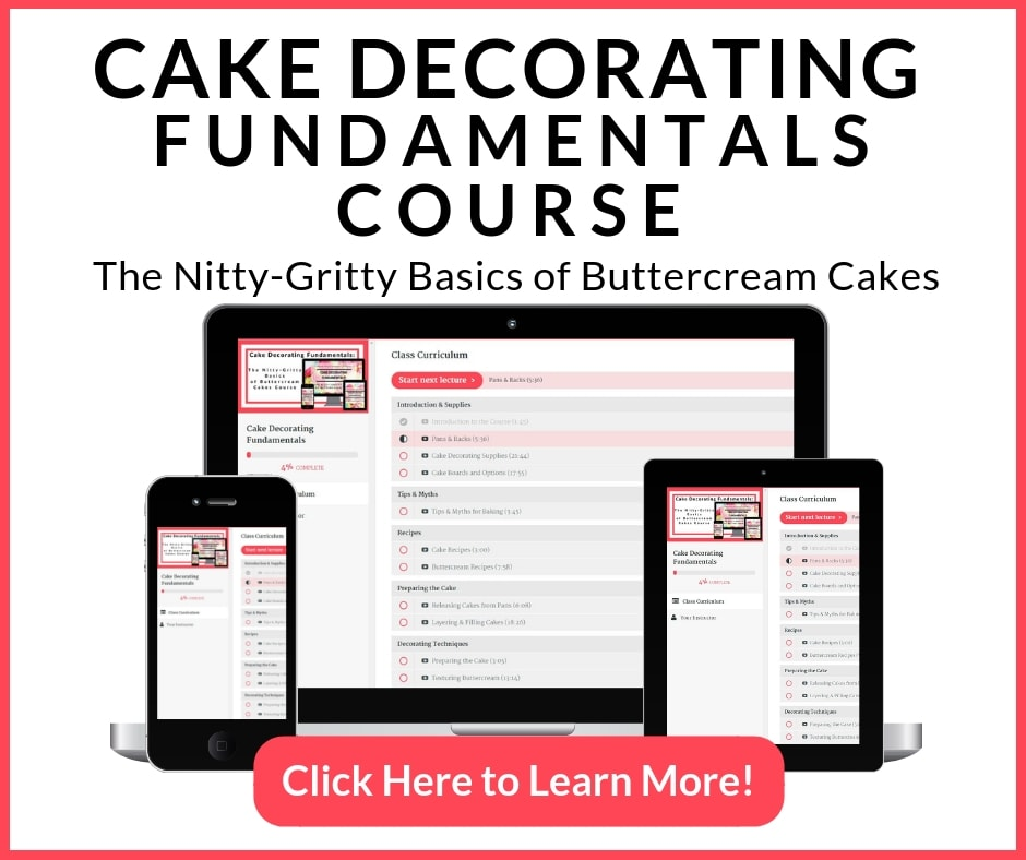 Cake Decorating Fundamentals Course