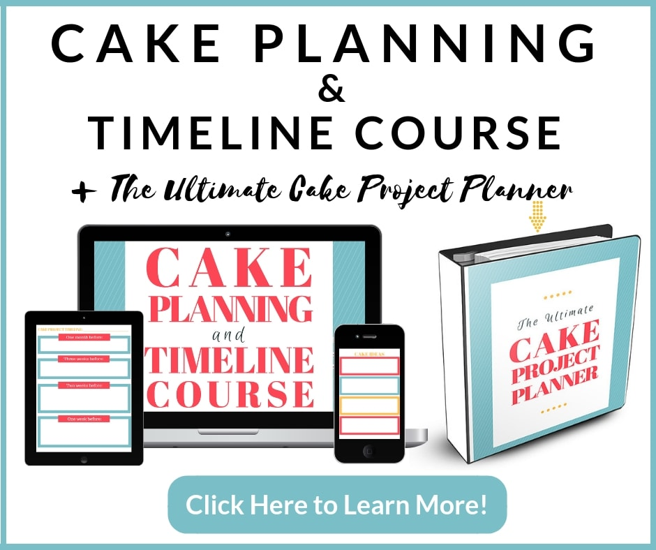 Cake Planning & Timeline Course Plus Bundle
