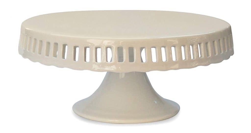 Cake Stand with Interchangeable Ribbon Trim