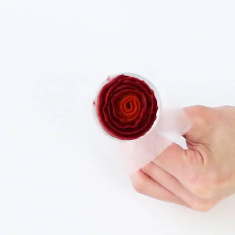 Buttercream ribbon rose