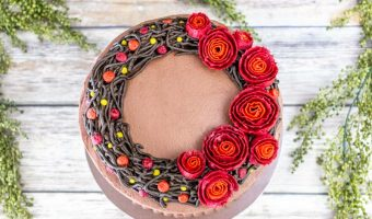 Fall Wreath Cake