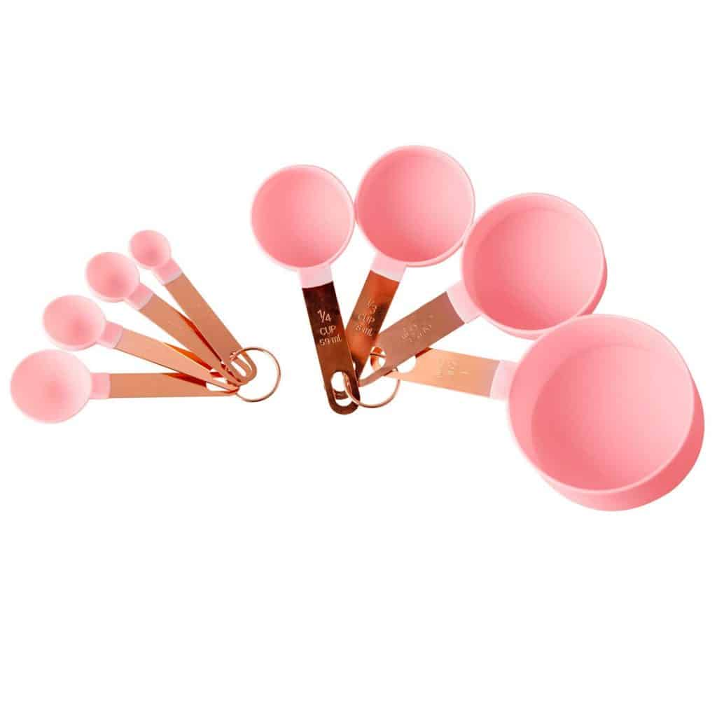 Pink Measuring Cups & Spoon Set