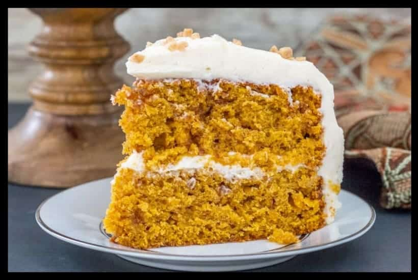 Pumpkin Toffee Crunch Cake Featured Image