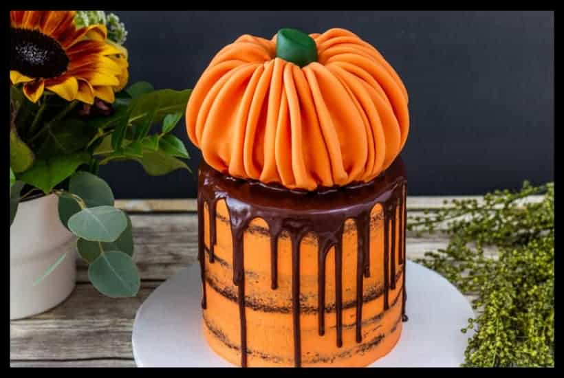 Rice Krispie Pumpkin Cake Topper Featured Image