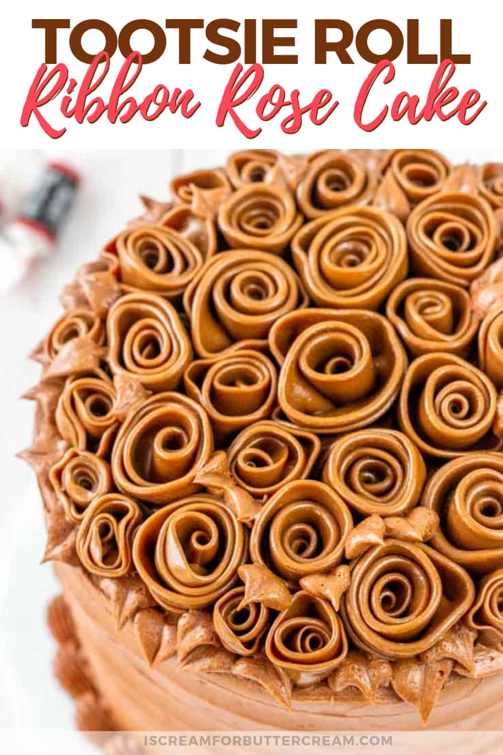 Tootsie Roll Ribbon Rose Cake New Pin Graphic 3