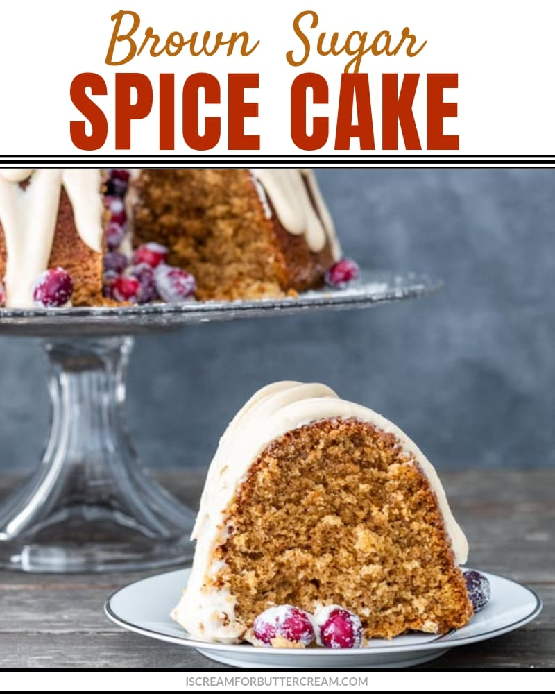Brown Sugar Spice Cake Blog Title Graphic