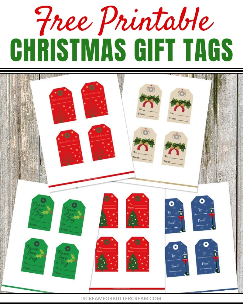 picture about Christmas Tags Printable known as Printable Xmas Reward Tags - I Scream for Buttercream
