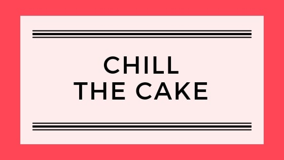 Chill the cake graphic
