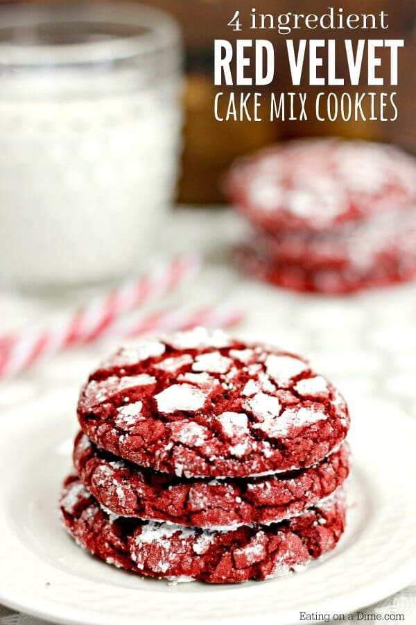 4 ingredient red velvet cookies