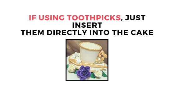 inserting flowers with toothpics graphic