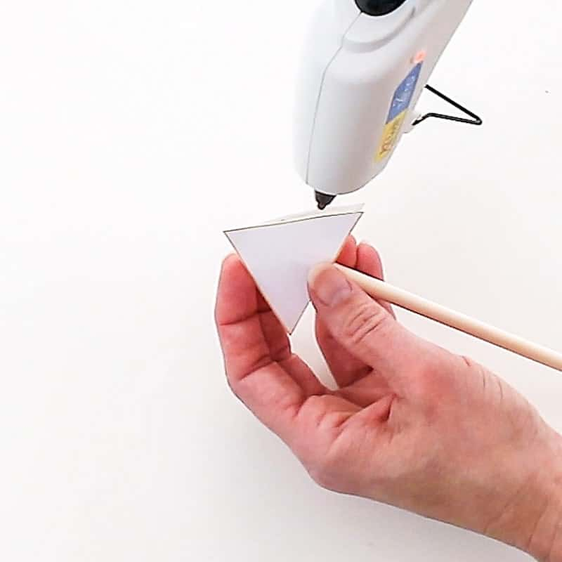 gluing the paper arrow