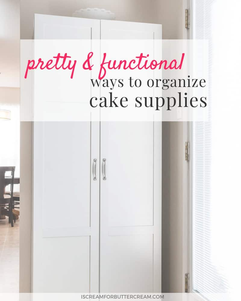 pretty and functional ways to organize baking supplies blog title graphic