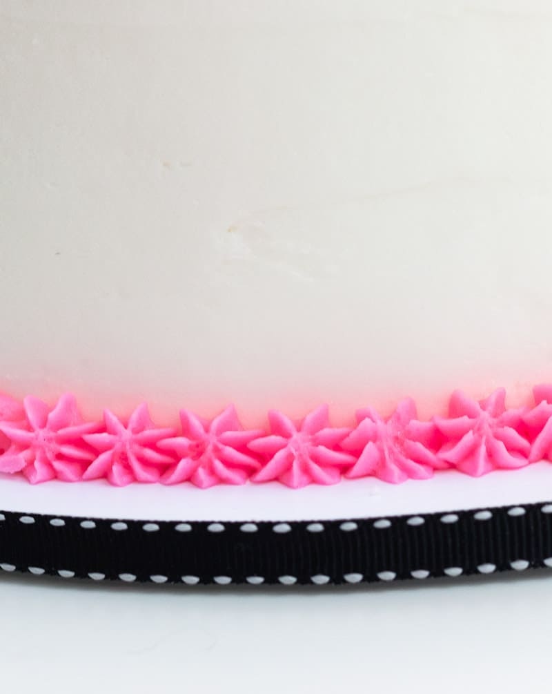 star buttercream border