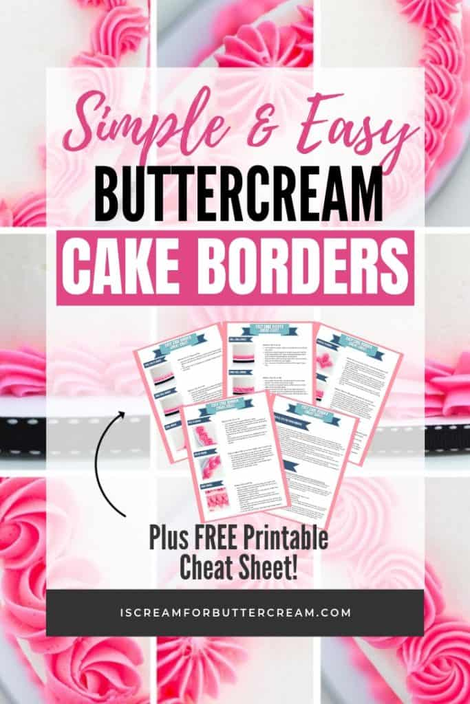 12 Simple and Easy Buttercream Cake Borders Pin