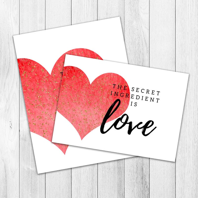 The Secret Ingredient is Love Printable both printables Graphic