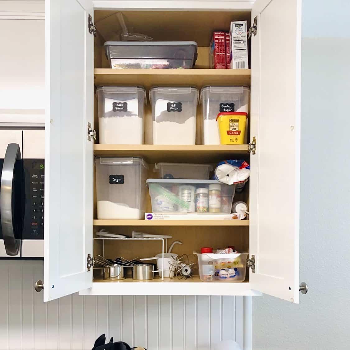organizing baking zone