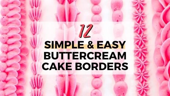12 simple buttercream borders title graphic