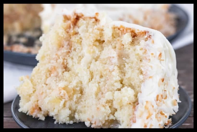 Pineapple Coconut Cake with Pineapple Filling Featured Image