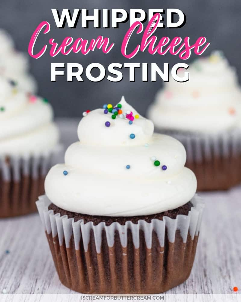 Whipped Cream Cheese Frosting Blog Title Image