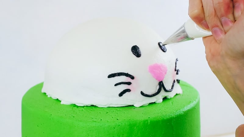 piping the bunny eyes