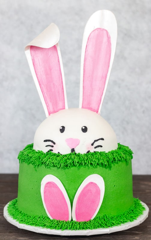 Bunny Ears Cake with Template