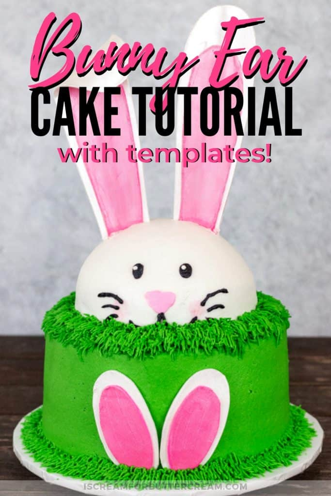 Bunny Ears Cake with Templates Pinterest Graphic 1
