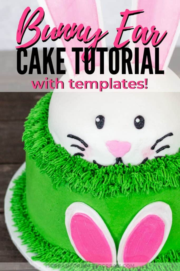 Bunny Ears Cake with Templates Pinterest Graphic 2