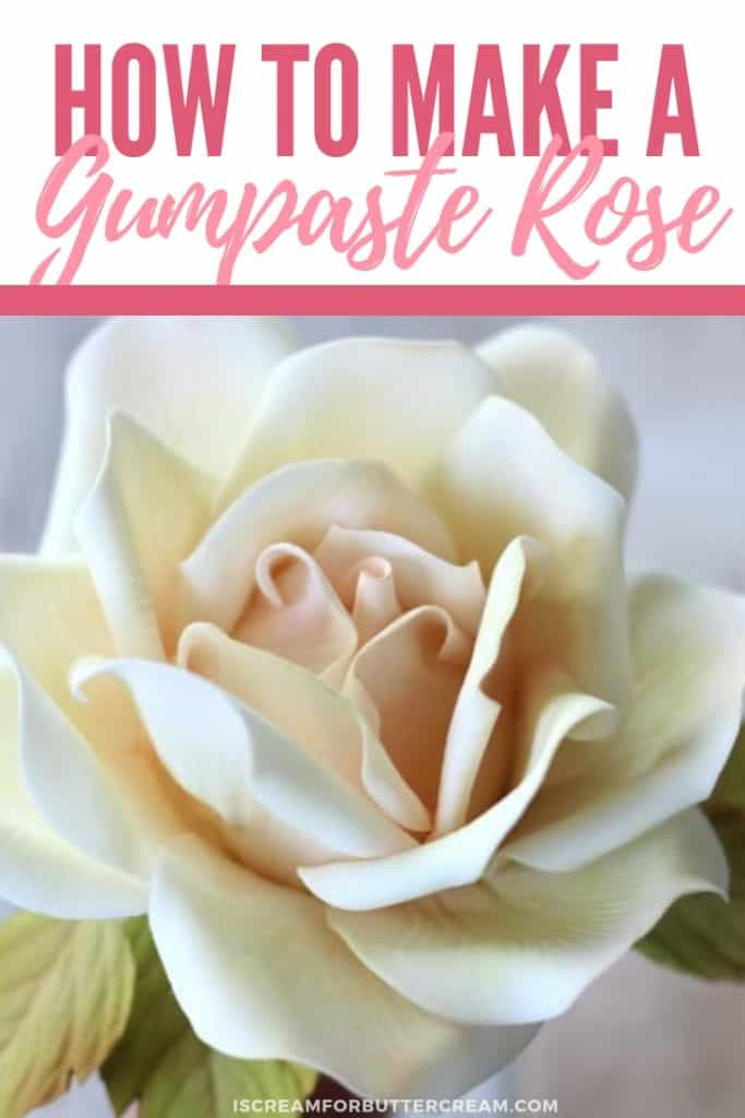 How to Make a Large Gumpaste Rose new pin 1