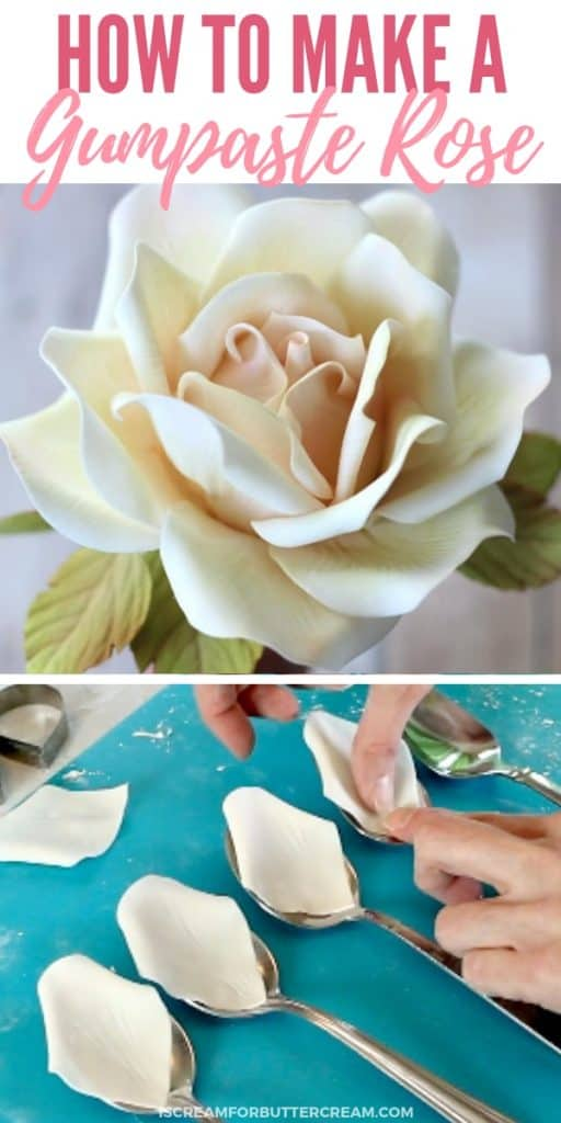 How to Make a Large Gumpaste Rose new pin 4