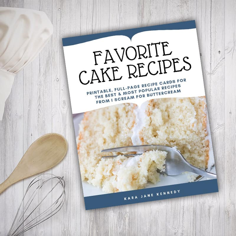 Favorite Cake Recipes Library Graphic