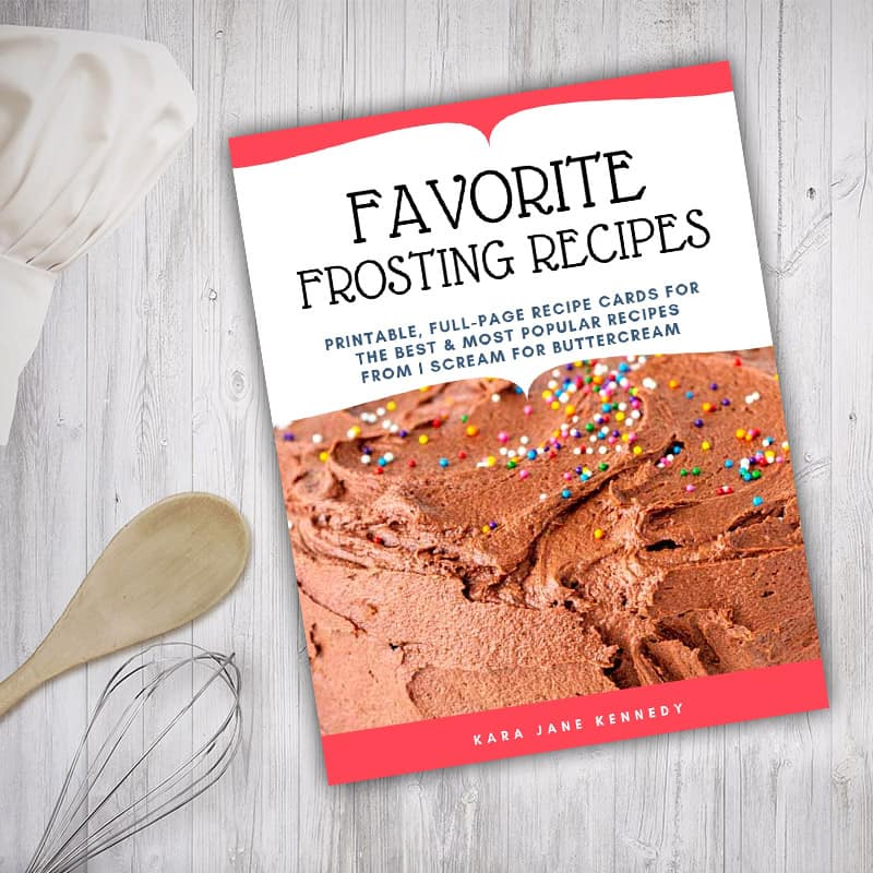 Favorite Frosting Recipes Library Graphic