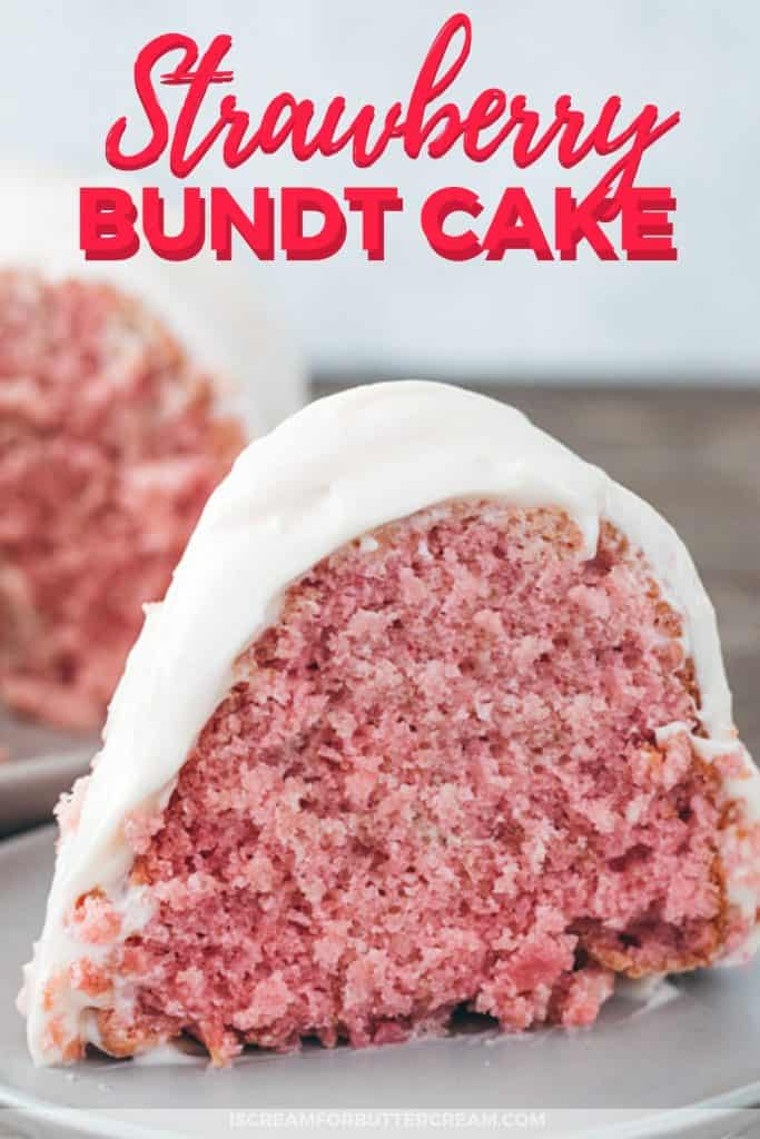 Strawberry Bundt Cake Pinterest Graphic 3