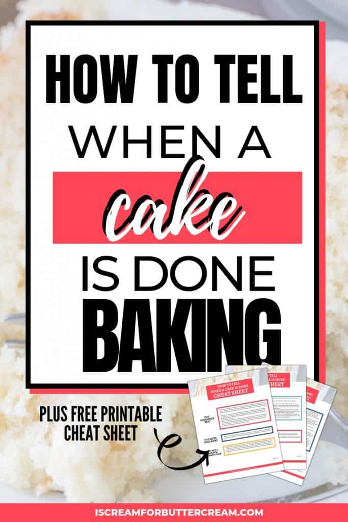 How to Tell When a Cake is Done Pinterest Graphic 4