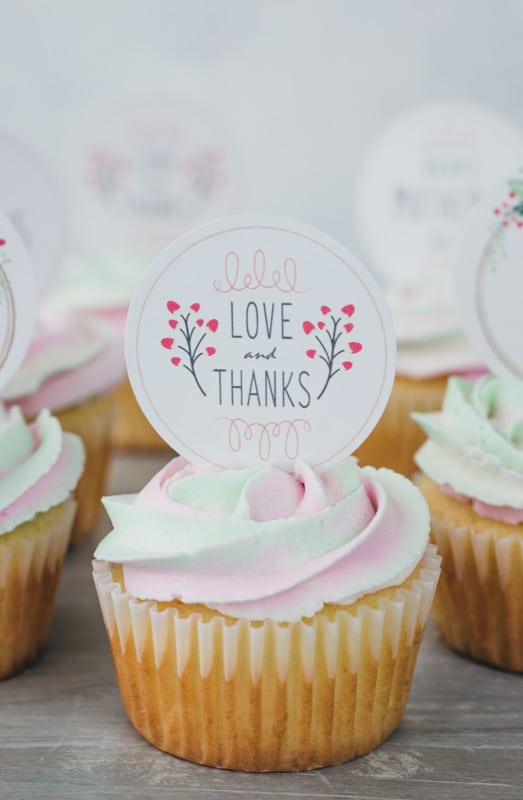 graphic regarding Printable Cupcakes named Moms Working day Cupcakes (additionally free of charge printable toppers) - I