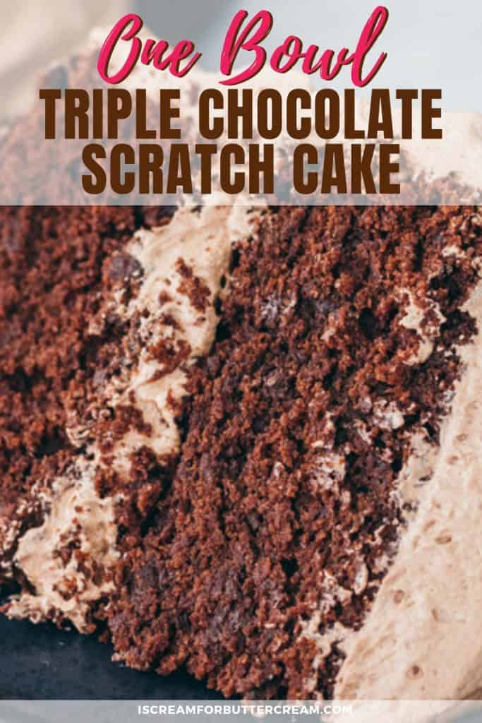 One Bowl Triple Chocolate Cake Pin Graphic 3