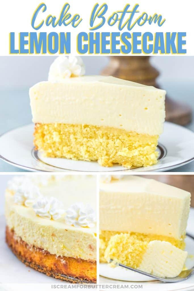 cake bottom lemon cheesecake pinterest graphic