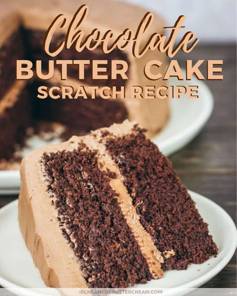 Chocolate Butter Cake Blog Title Graphic