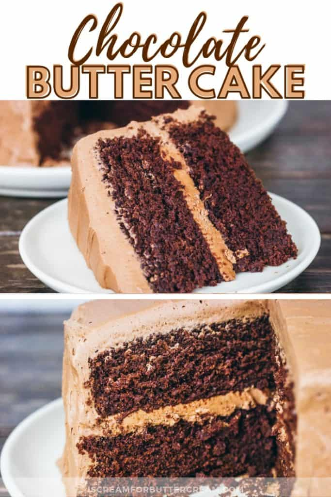 Chocolate Butter Cake New Pinterest Graphic 1