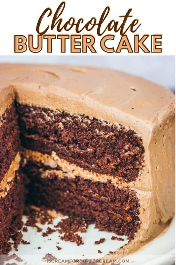Chocolate Butter Cake New Pinterest Graphic 2