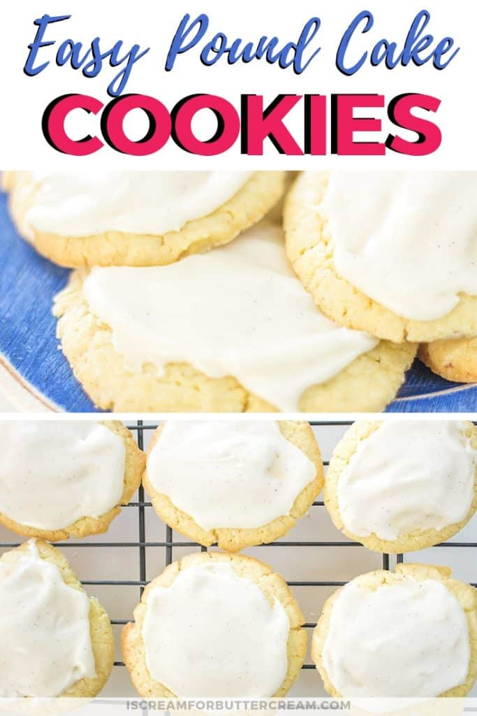 pound cake cookies pinterest graphic