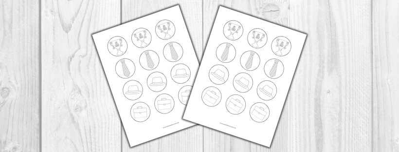 Fathers Day printable cupcake toppers graphic