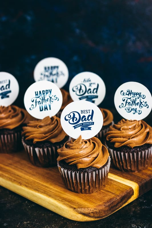 Father's Day Cupcake Topper Free Printables-7