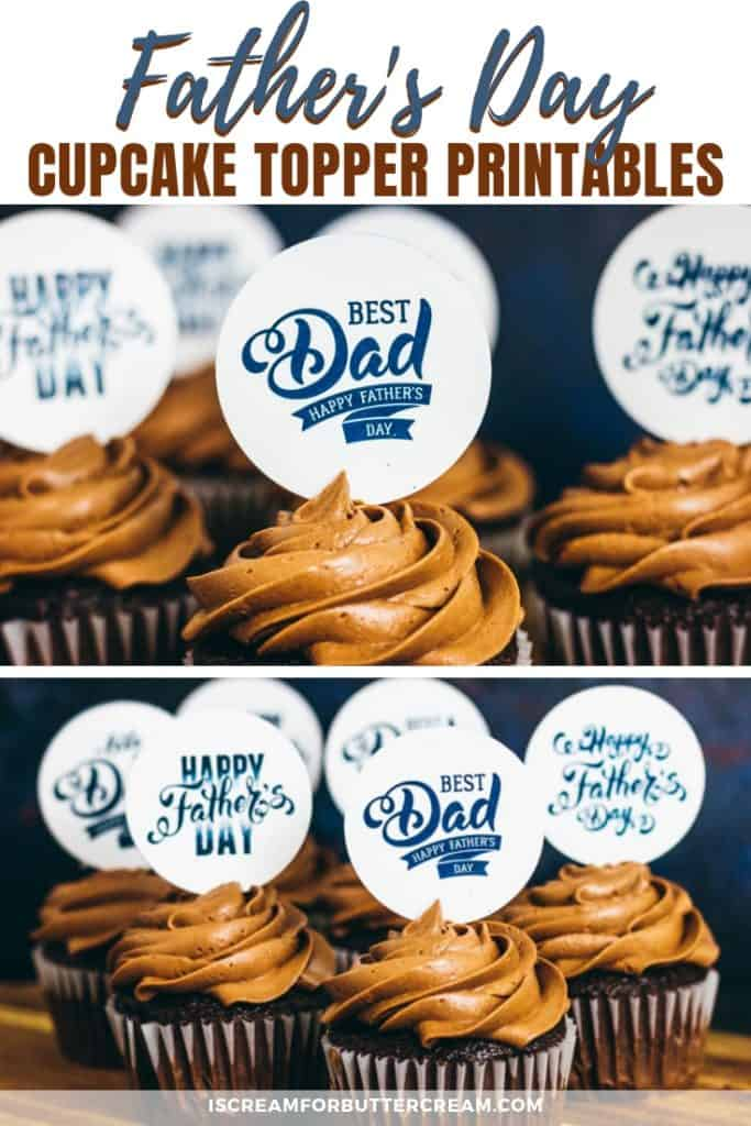 Father's Day Cupcake Topper Free Printables pin image 1