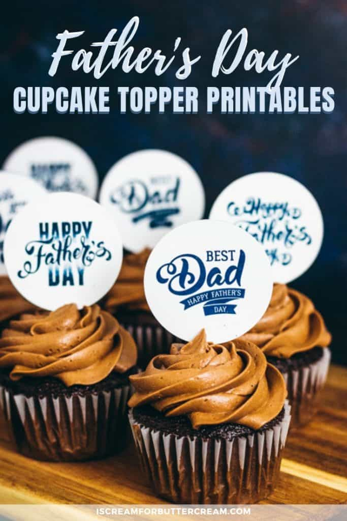 Father's Day Cupcake Topper Free Printables pin image 2