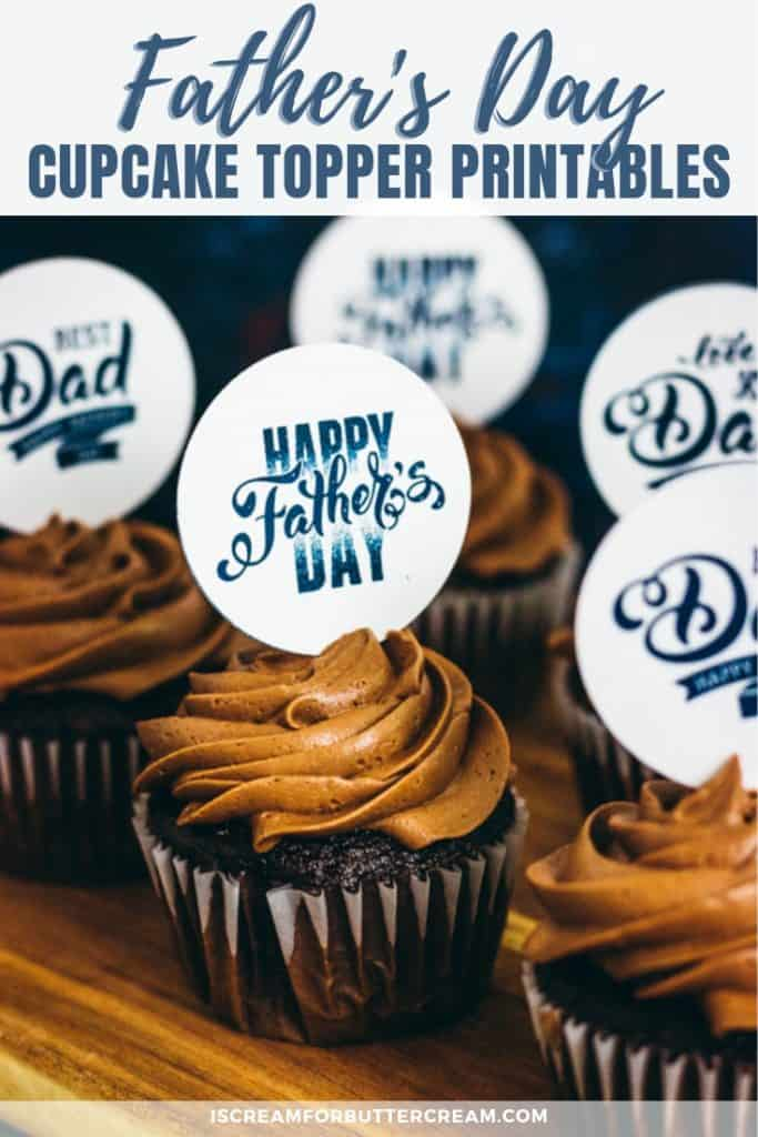 Father's Day Cupcake Topper Free Printables pin image 3