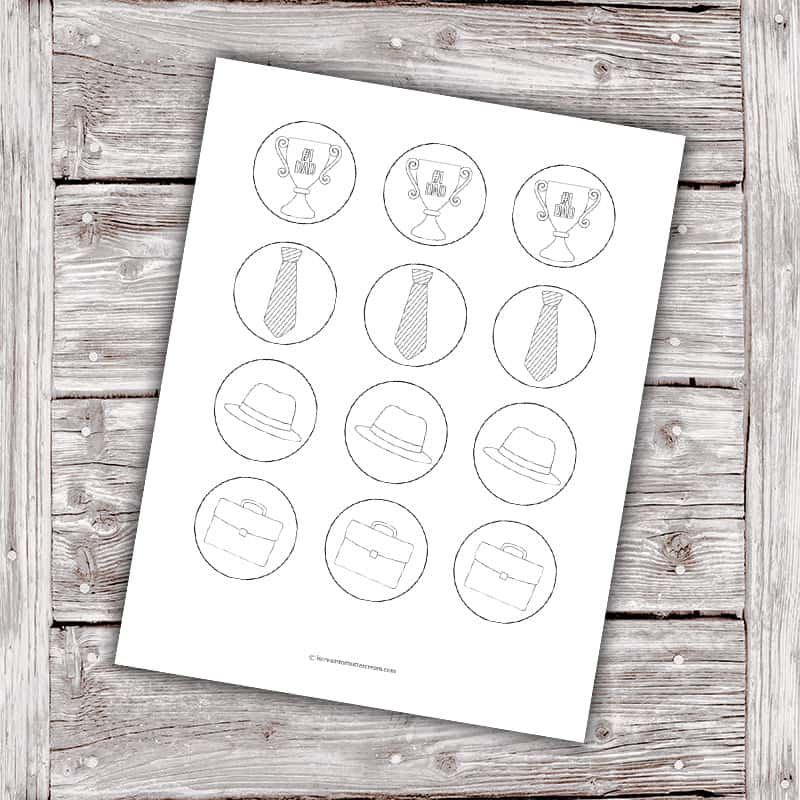 Free Coloring Cupcake Toppers Printable Library Graphic