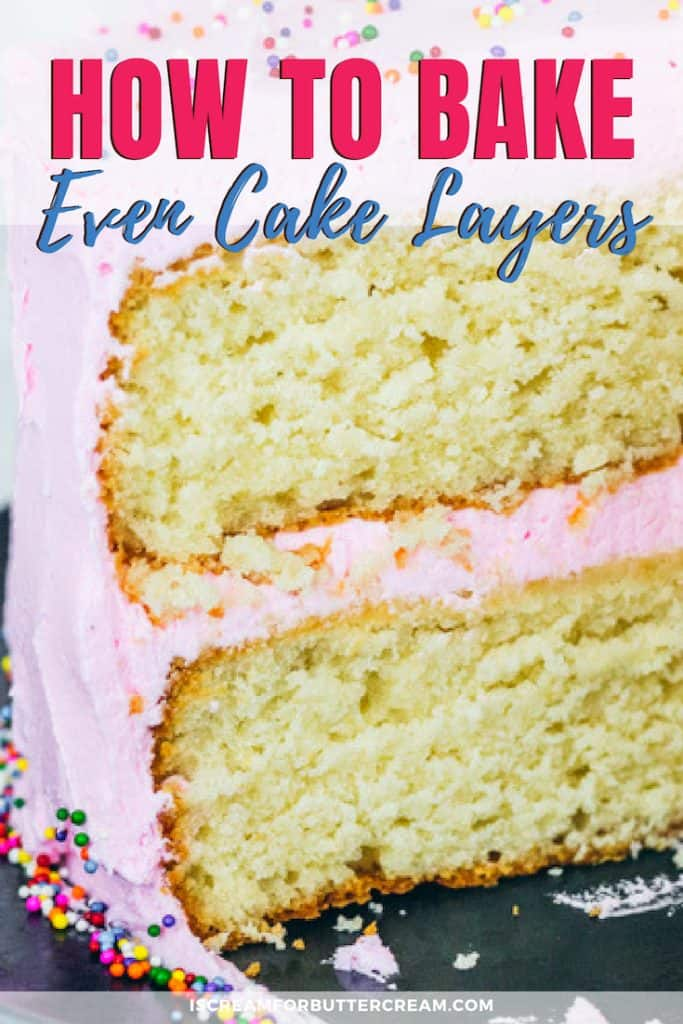 How to Bake Even Cake Layers Pin Graphic 5
