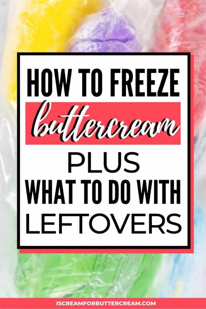 how to freeze buttercream pinterest graphic